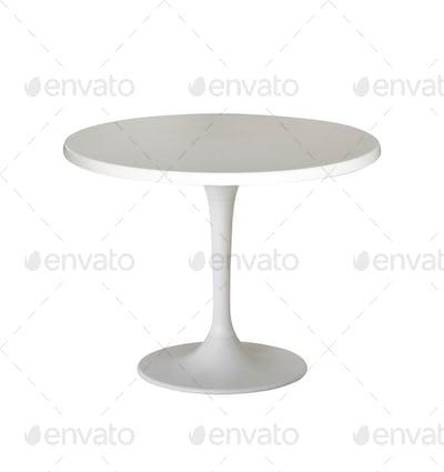 white round table isolated on white
