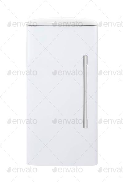 fridge freezer isolated on white