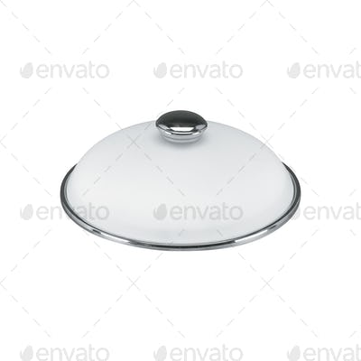 a covered metal serving platter