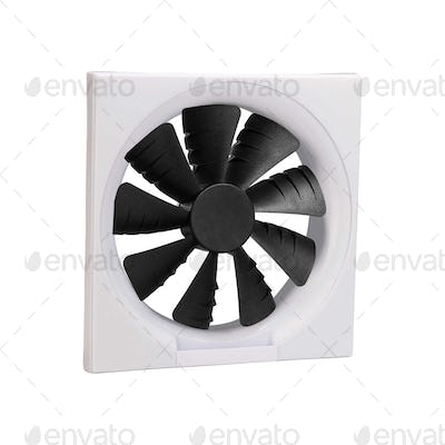 Close-up shot of computer CPU cooler isolated on a white background
