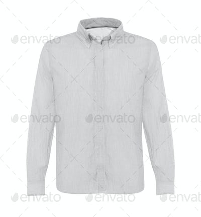 white shirt with long sleeves isolated on white