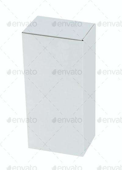 White box isolated on white background