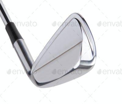 Golf club on white background