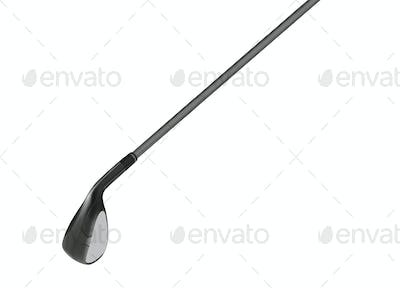 metal golf club isolated