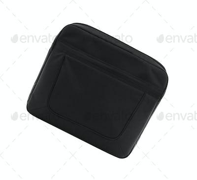 Black textile laptop briefcase