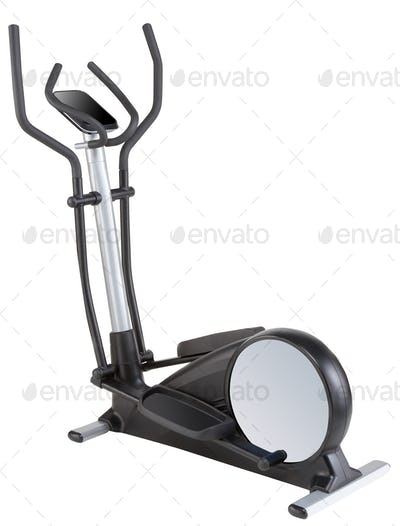 Exercise bike isolated on white