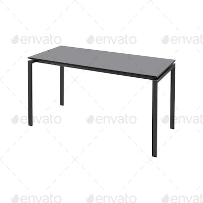 Black table isolated on white
