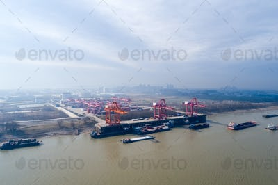 inland container terminal on jiujiang