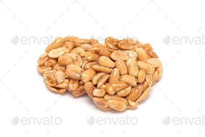 Korean traditional sweet snacks with peanuts, isolated on white