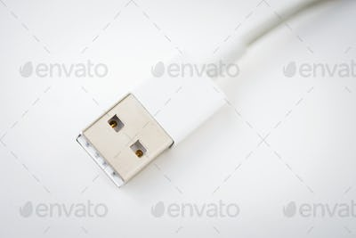 Closeup of mobile charger wire