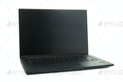 Black laptop computer