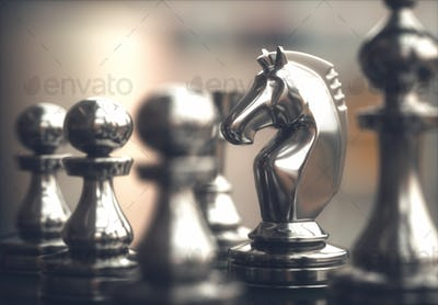 Chess Pieces Gameboard