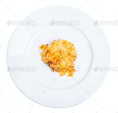 Chicken rissole with cheese.