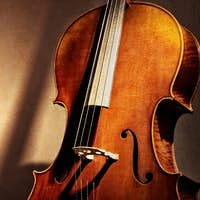 Cello background with copy space for music concept