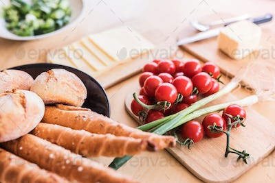 Composition of food on the table.