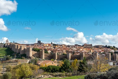 View of Avila in Spain