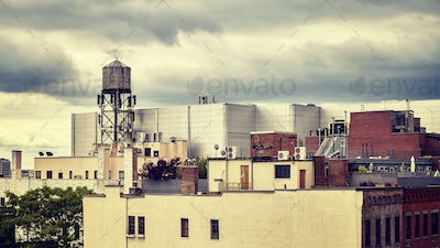 Roofs of the New York City, USA.