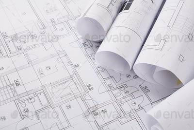 Plan of building. Architectural project background