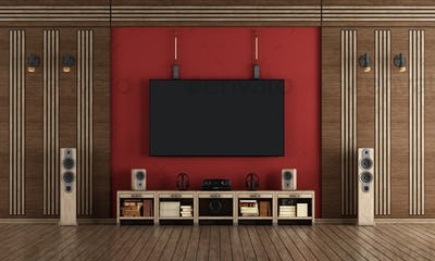Home cinema in classic style