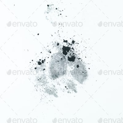 partial palm print with printing dust