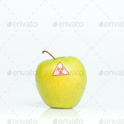 contaminated apple