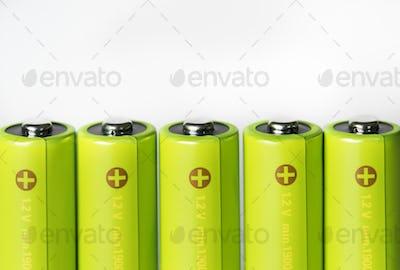 Closeup of battery