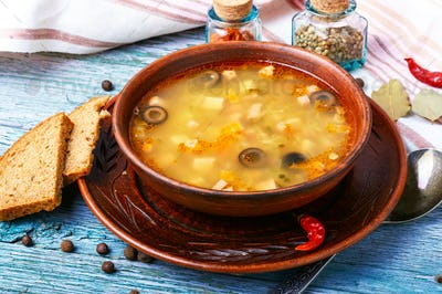 solyanka traditional Russian soup