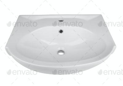 Washbasin isolated on a white