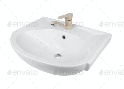 Washbasin isolated on white