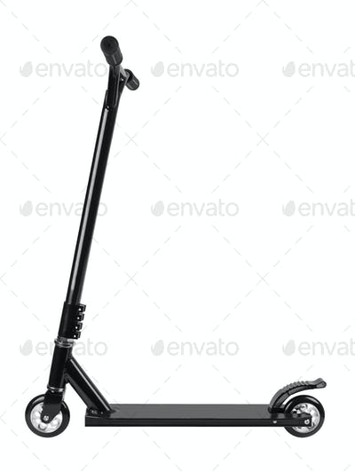 metal scooter isolated