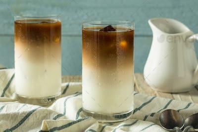 Refreshing Homemade Layered Iced Coffee
