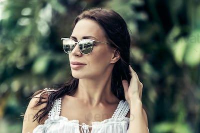 Beautiful woman on summer vacation