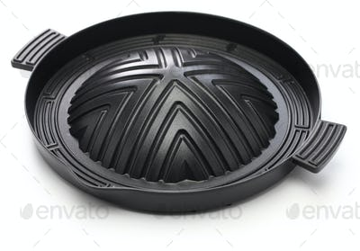 Pan for Jingisukan(Japanese style lamb barbecue), dome-shaped skillet