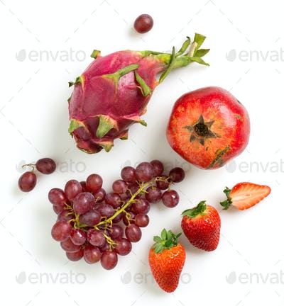 various red fruits