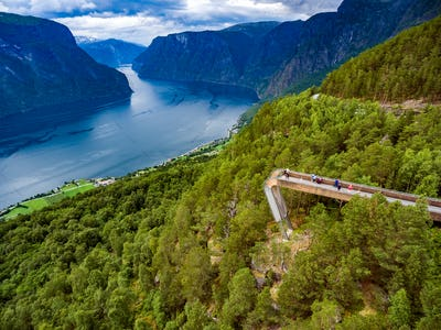Stegastein Lookout Beautiful Nature Norway.