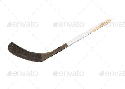 Isolated Smashed Hockey Stick