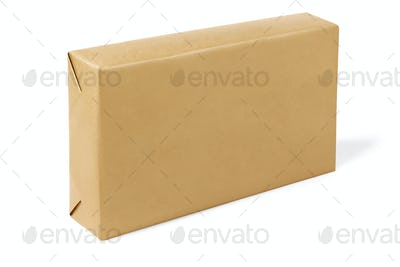 Box Wrapped With Brown Paper