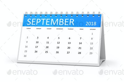 table calendar 2018 september