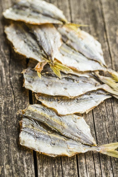 Dried salted fish.