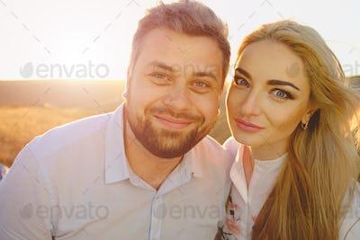 Happy couple portrait