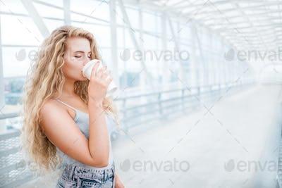 Coffee on the bridge.