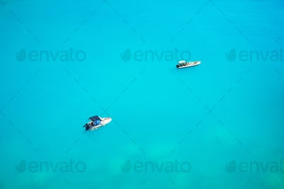 boats in deep water