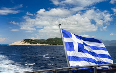 travel with Greece flag