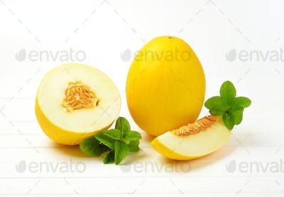 fresh yellow melons
