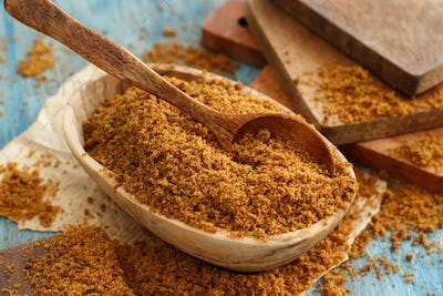 Brown unrefined cane sugar