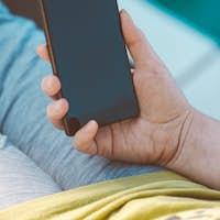 Smartphone in female hand