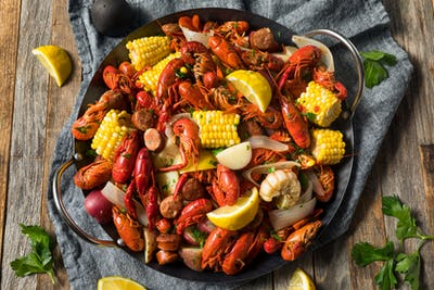 Homemade Southern Crawfish Boil