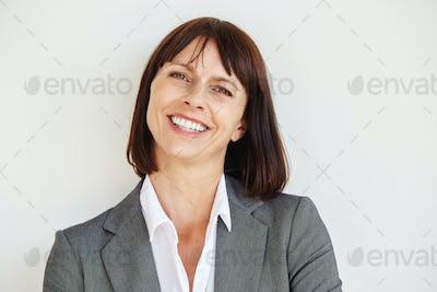 Close up portrait of happy business woman