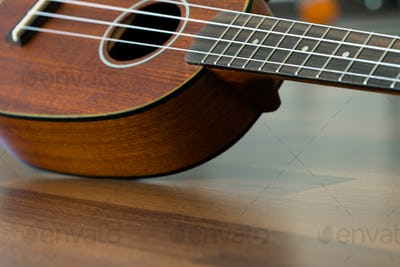 Hawaiian ukulele close up