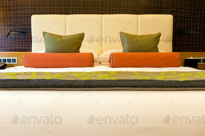 Double bed close up